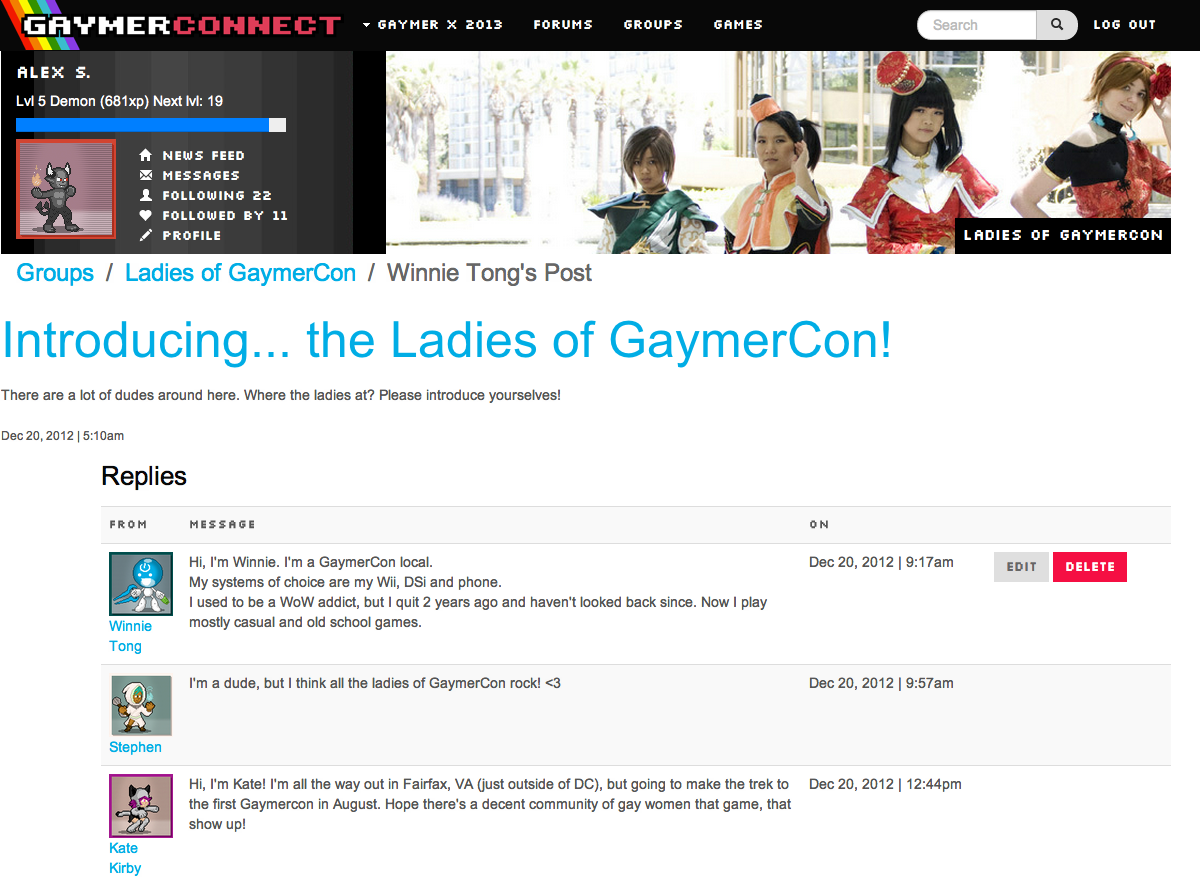 GaymerConnect in Action
