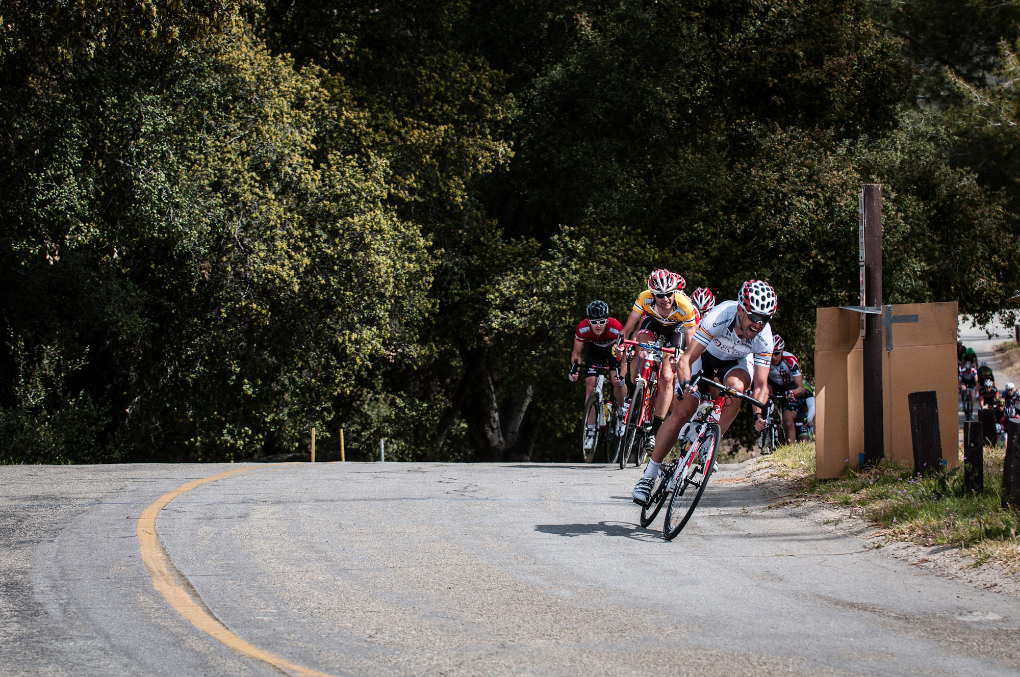 Mancebo chases the break during the City of Beaumont Circuit Road Race. Photo: Tommy Chandler/Competitive Cyclist.