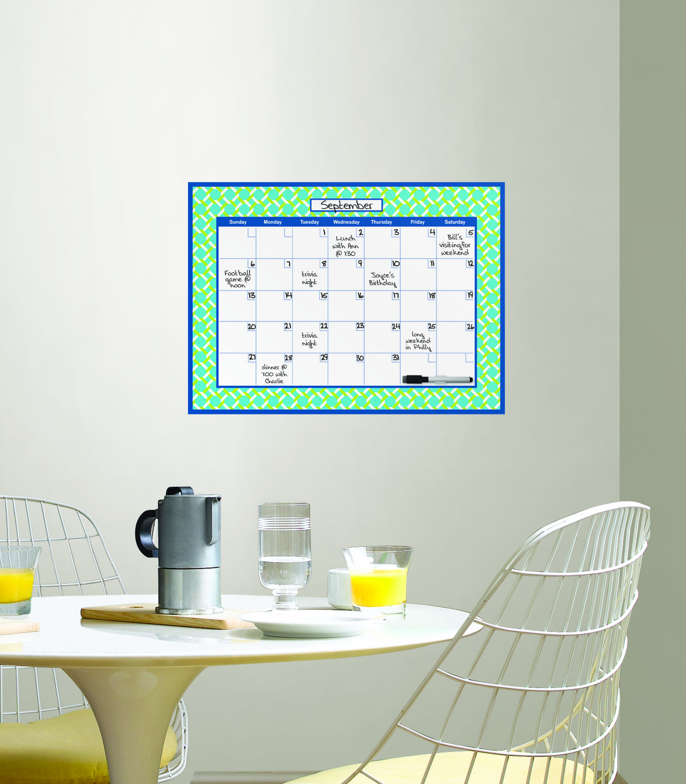 WallPops by Jonathan Adler Links Dry Erase Monthly Calendar