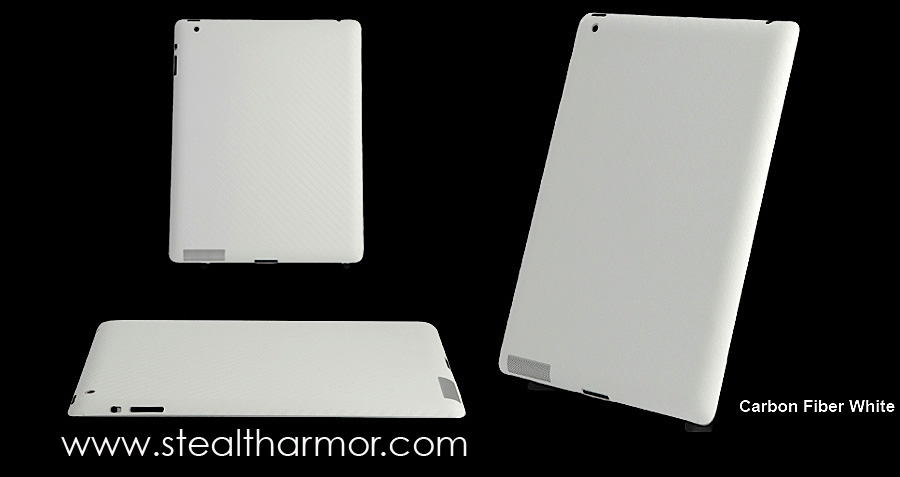 iPad 2 Carbon Fiber White looks amazing with the white iPad 2 and a SmartCover.
