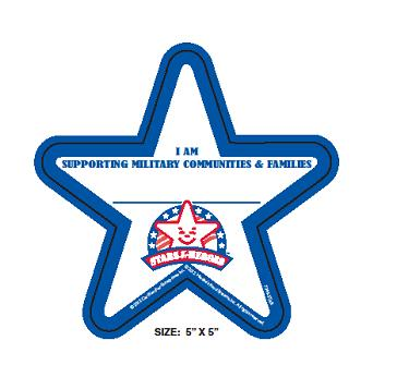 Customers bought a Star for $1 to decorate restaurant walls in support of military families and communities.