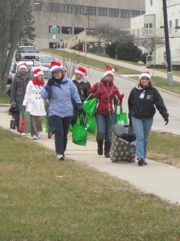 Since the need for food, clothing and other donations for local charities and organizations continues to increase, Mercy employees walked donated turkeys and non-perishable food items to benefit those in need.