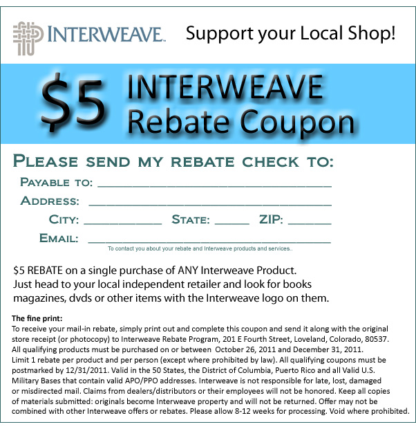 Interweave $5 Rebate Coupon
