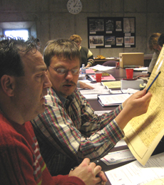 Photo of teachers in a workshop about working with archival material.