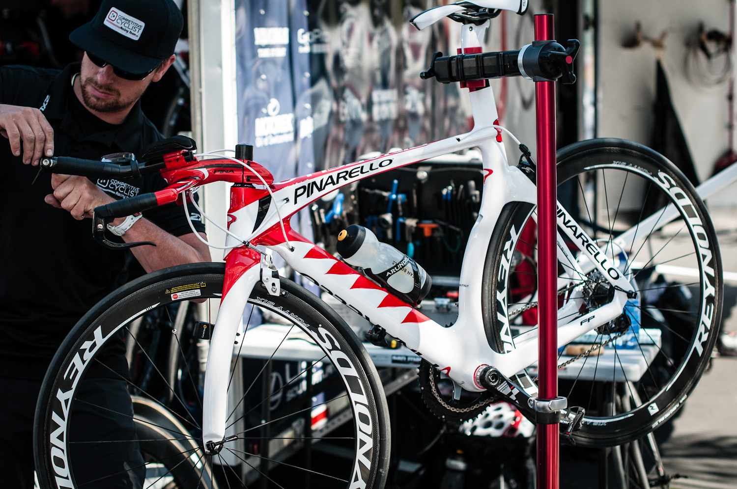 The Team's elegant whip. Photo: Tommy Chandler/Competitive Cyclist.