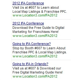 IFA 2012 Paid Search Ads