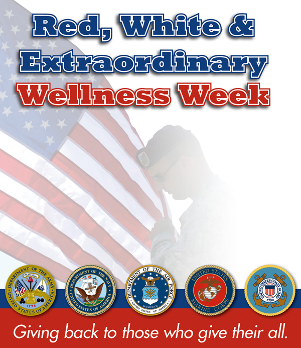 "Chiro One Wellness Centers hosts ""Red, White & Extraordinary Wellness Week,"" offering complimentary wellness evaluations for veterans and active duty military personnel Tuesday, May 29th thru Thursday, May 31st."
