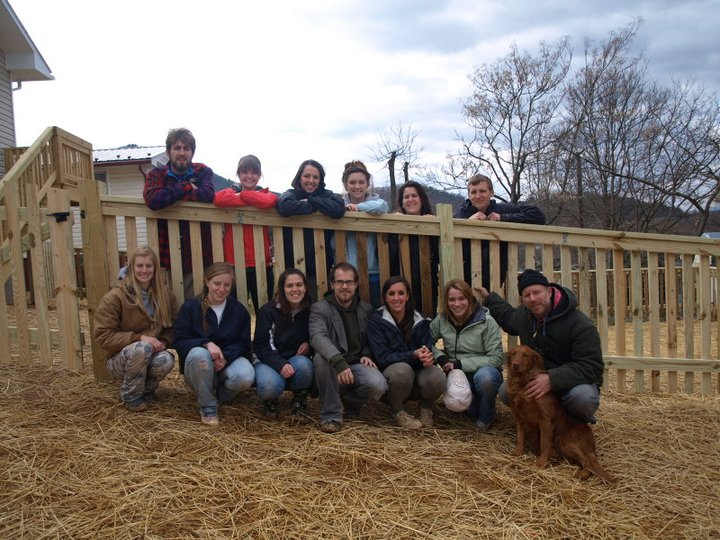 Champlain College's Spring Break Service in Action Trip 2011 - Rockbridge Area Habitat for Humanity