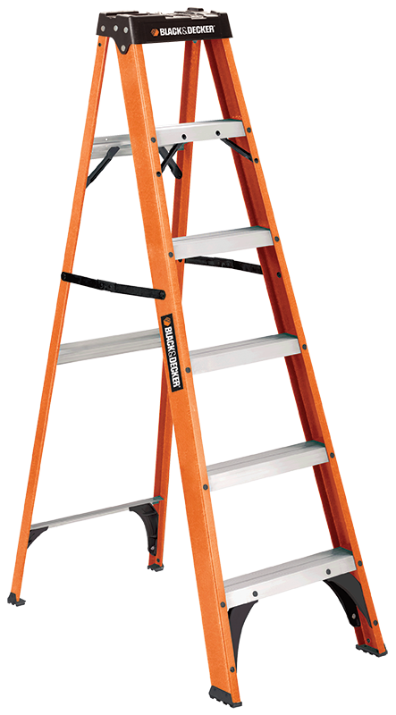 The new product line includes several stepladders like the fiberglass BXL3110. The BXL3110