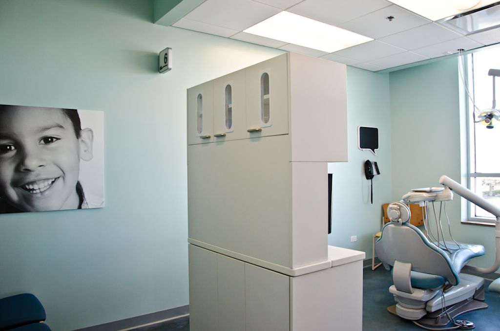 View of a patient room in the Lawndale Christian Health Center pediatric dentistry clinic.