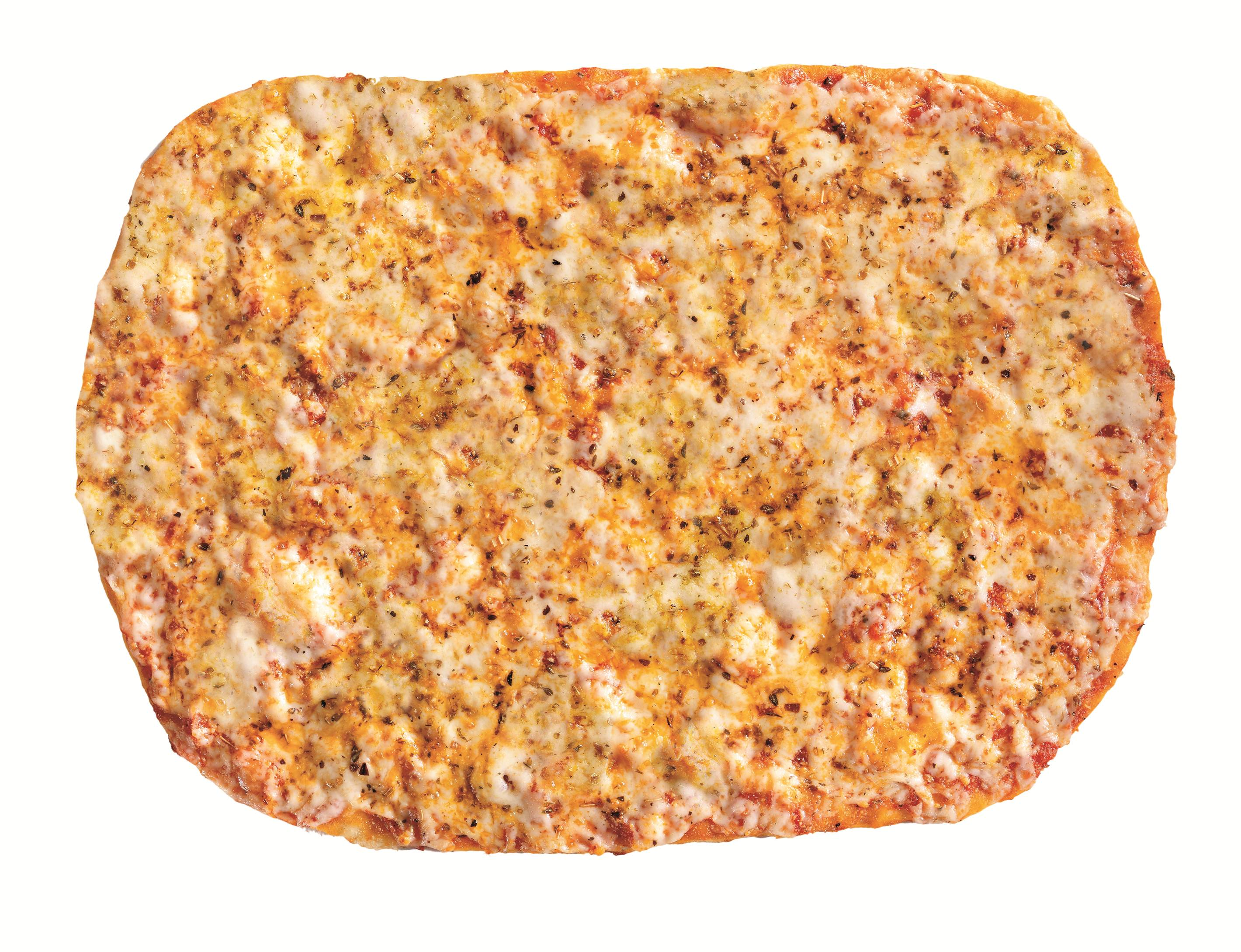 The Meltdown, made with Parmesan, Romano and mozzarella cheeses with signature Italiano sauce topped with an oregano seasoning blend on a thin, crisp Italiano crust.