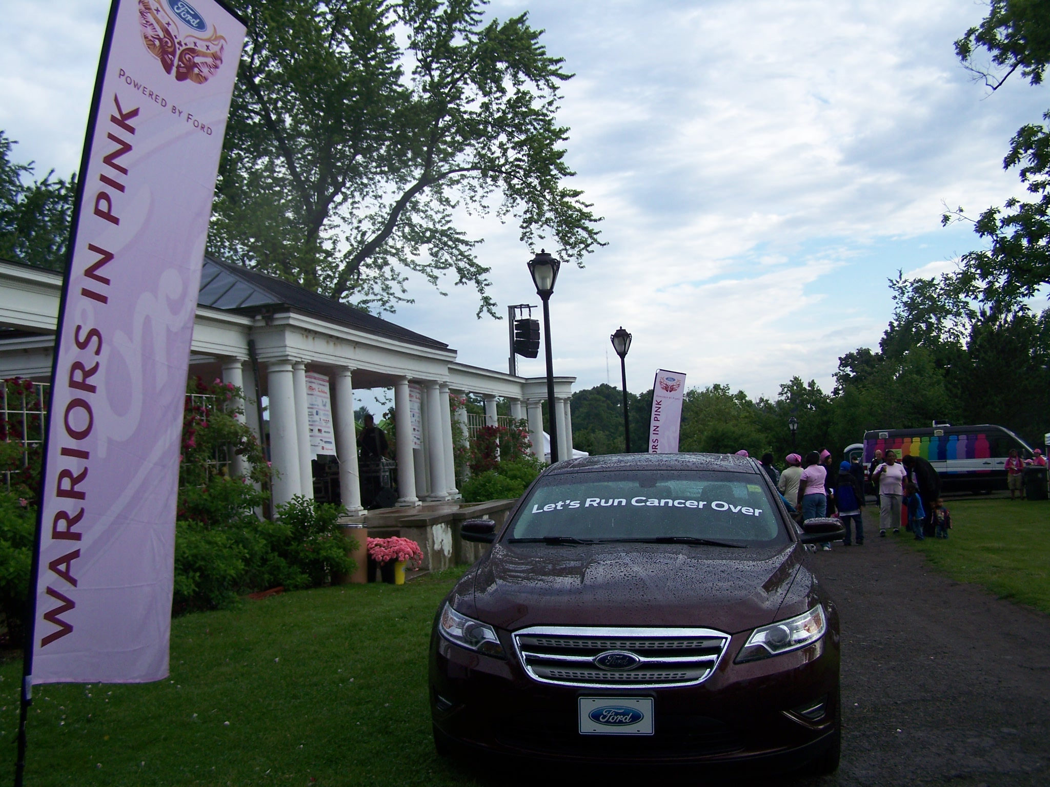 "A Ford Taurus ""told"" the crowd what it would like to do to cancer at the 12th annual WNY Race for the Cure."