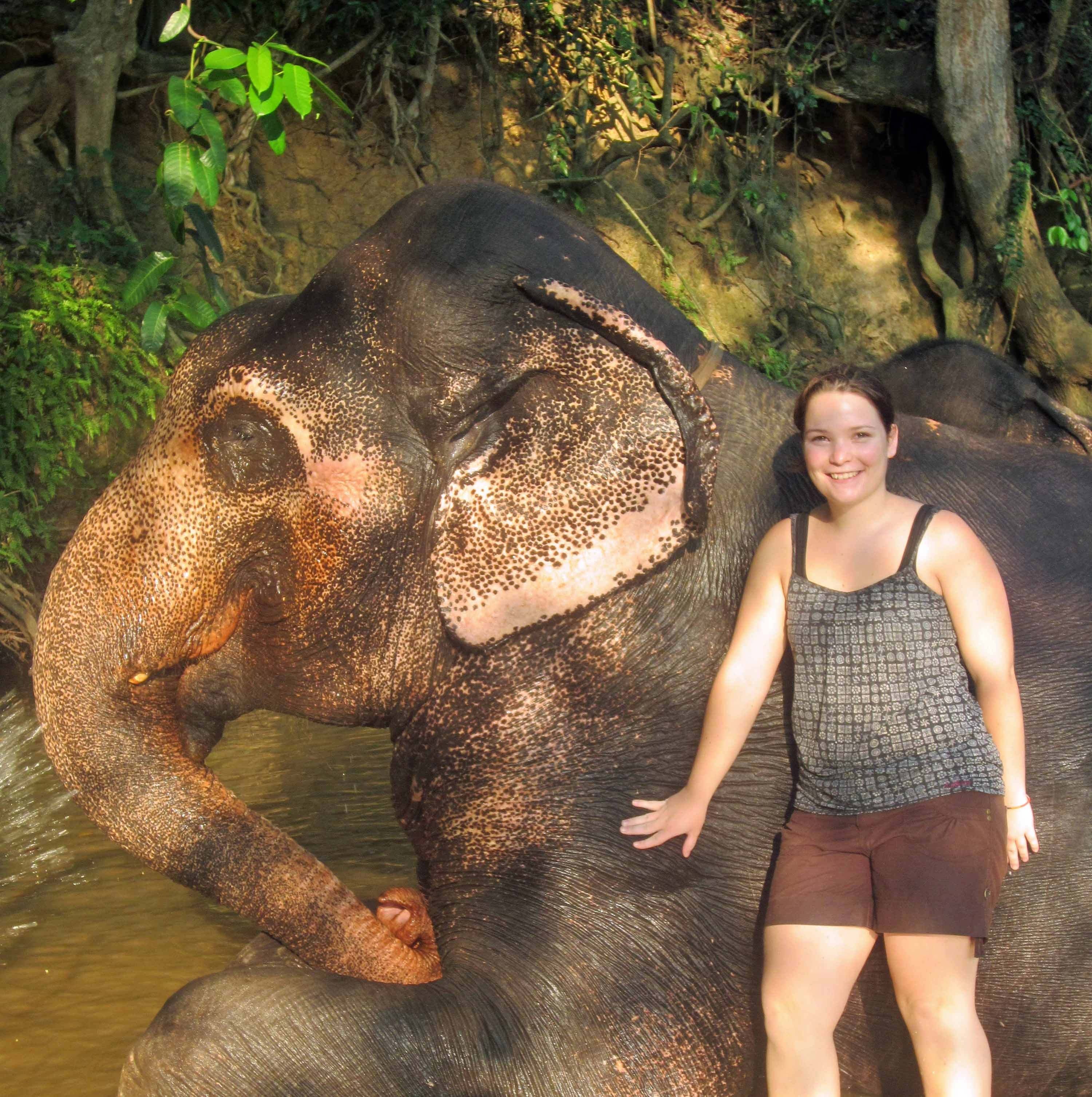 Work with elephants in Sri Lanka. Photo credit: Inspire Sri Lanka