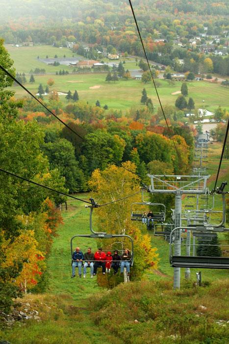 Fall color ski lift ride at Granite Peak, photo courtesy of Granite Peak Ski Area