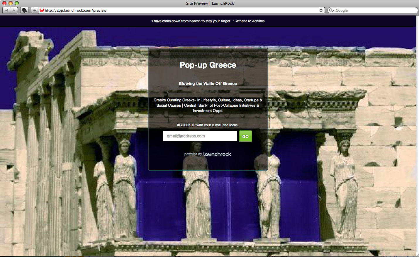 Pop-Up Greece Seeks To Blow The Walls Off Greece with PR-Curation of Post-Collapse Initiatives