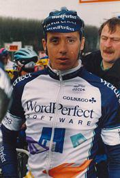 Early pro years racing in Europe with the WordPerfect cycling team.