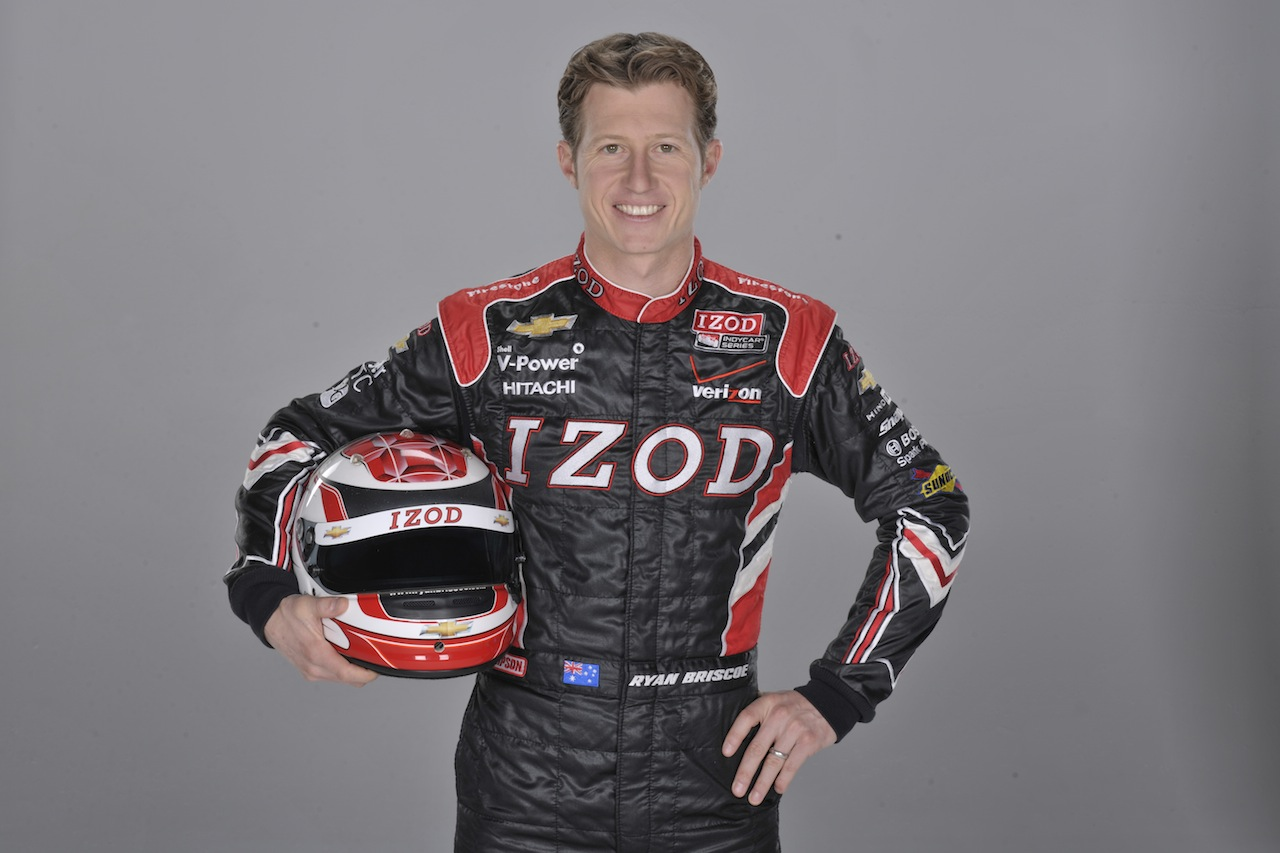 Ryan Briscoe IndyCar Driver at Macy&#39;s State Street