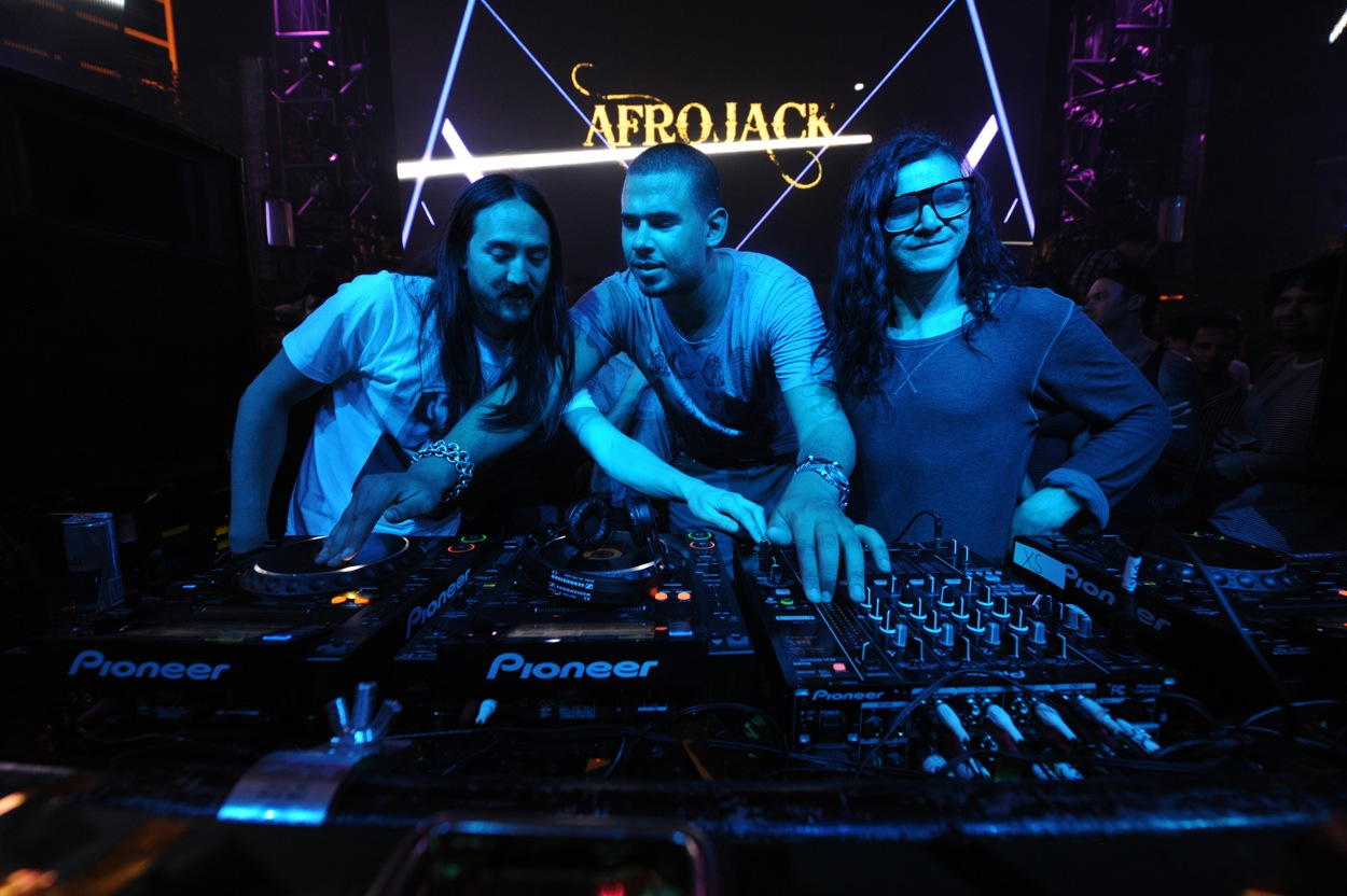 Steve Aoki, Afrojack and Skrillex