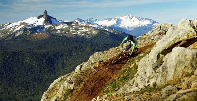 "Whistler Mountain Bike Park's newest trail, ""Top of the World"". Image taken by Sterling Lorence."