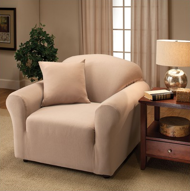 Ivory chair slipcover, a nice neutral, for stylish décor.
