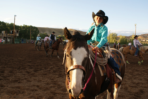 Families enjoy the Friday Night Rodeos in Dubois, WY.