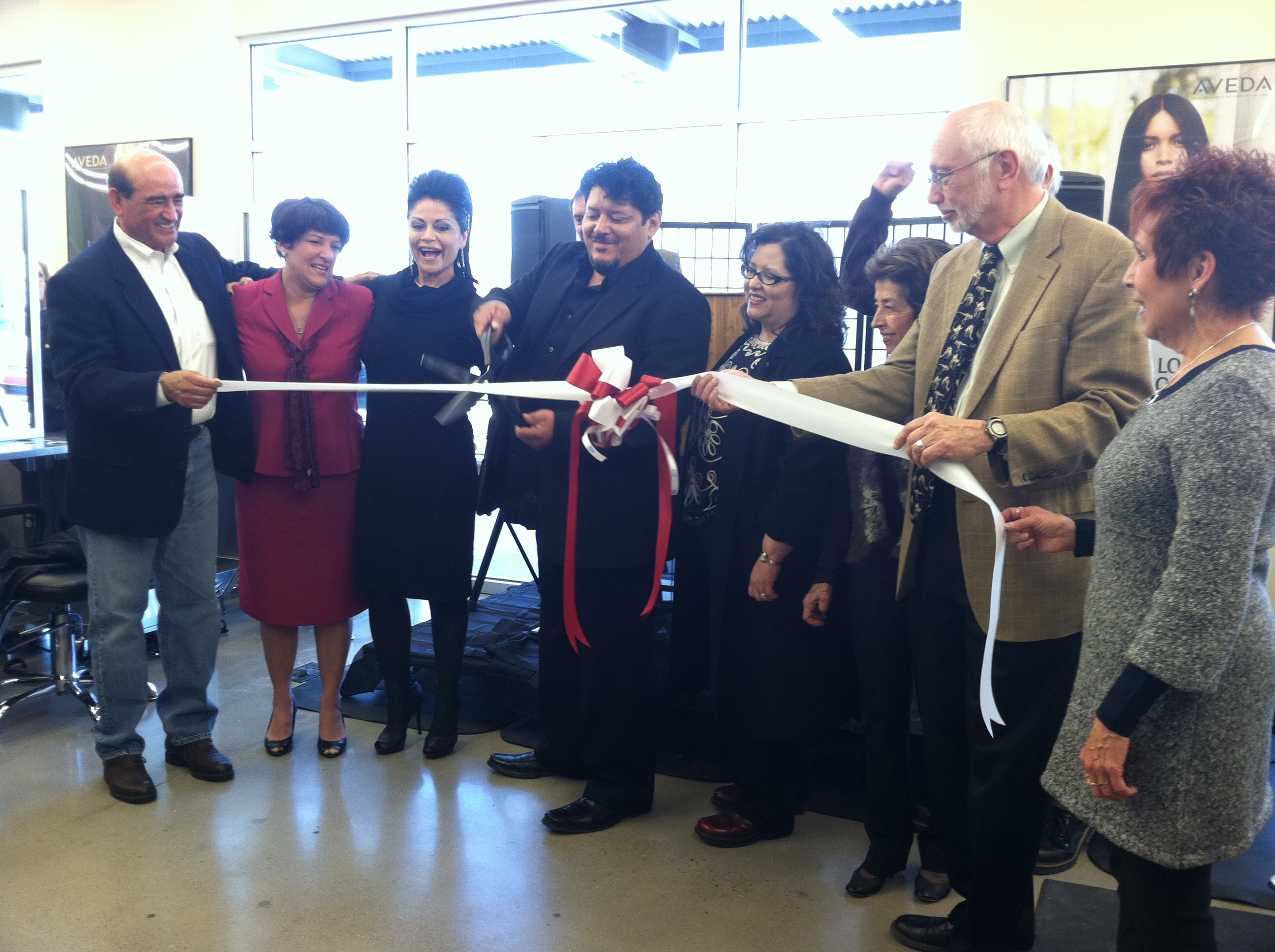 Mark Pardo Gonzales Aveda Institute New Mexico Owner At Ribbon Cutting