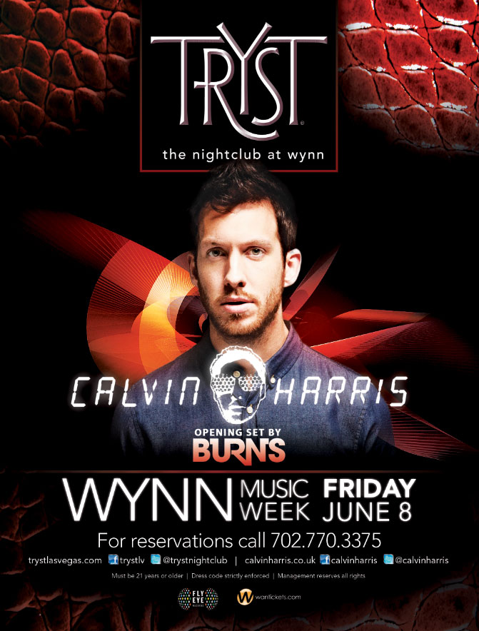 Tryst Nightclub presents Calvin Harris June 8, 2012