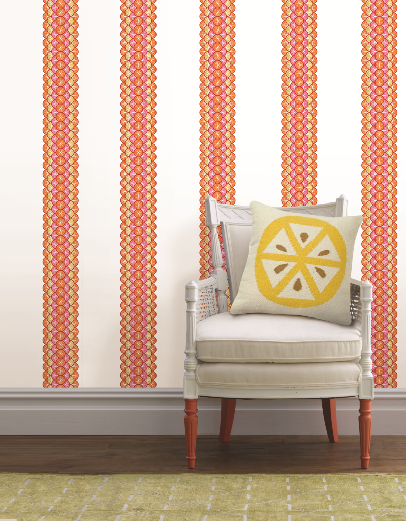 WallPops by Jonathan Adler, Geo Circles Stripes. Visit the Pinterest page at http://pinterest.com/wallpops.