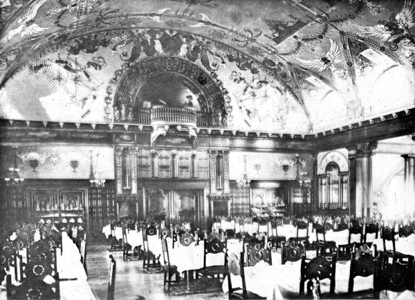 Dining room of the Ponce de Leon Hotel, St. Augustine, 1891