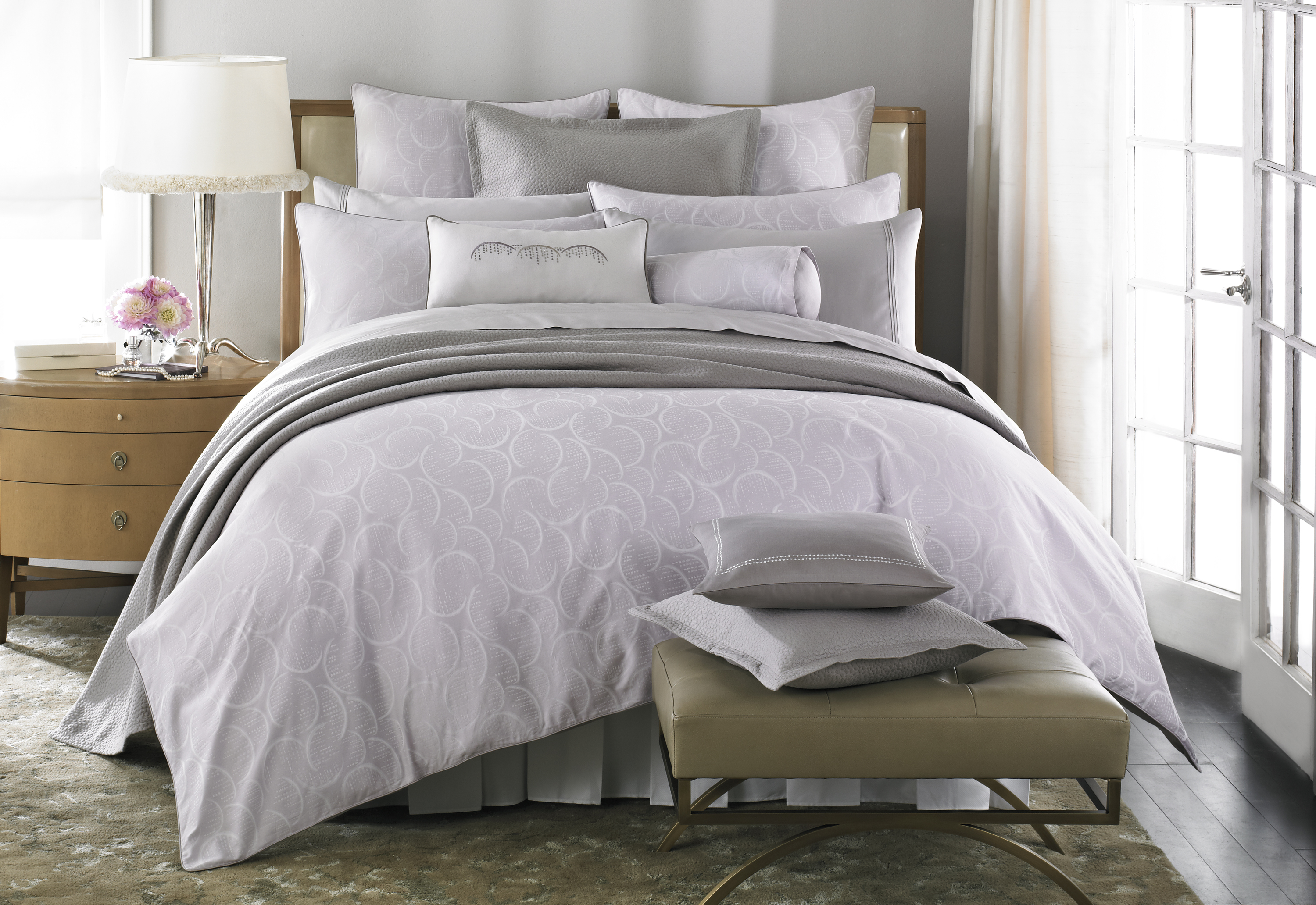 DIVINE bed ensemble from Barbara Barry Dream (Spring 2012).  Available at Bloomingdale's and other retailers February 2012.  Photo credit:  Courtesy of Barbara Barry Inc.