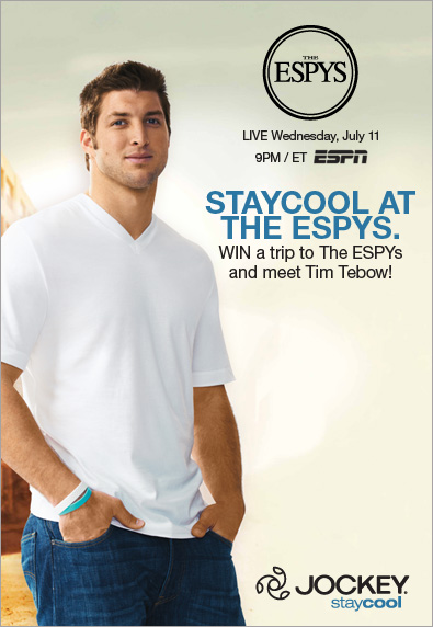 Jockey spokesman and NFL quarterback Tim Tebow