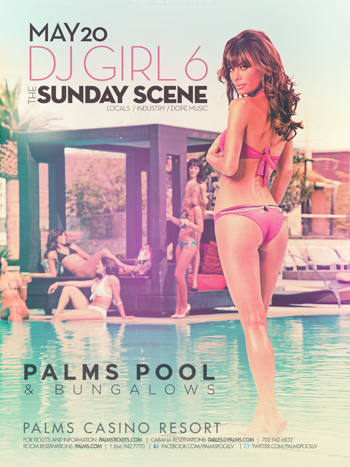 Sunday Scene at Palms Pool and Bungalows Featuring DG Girl 6