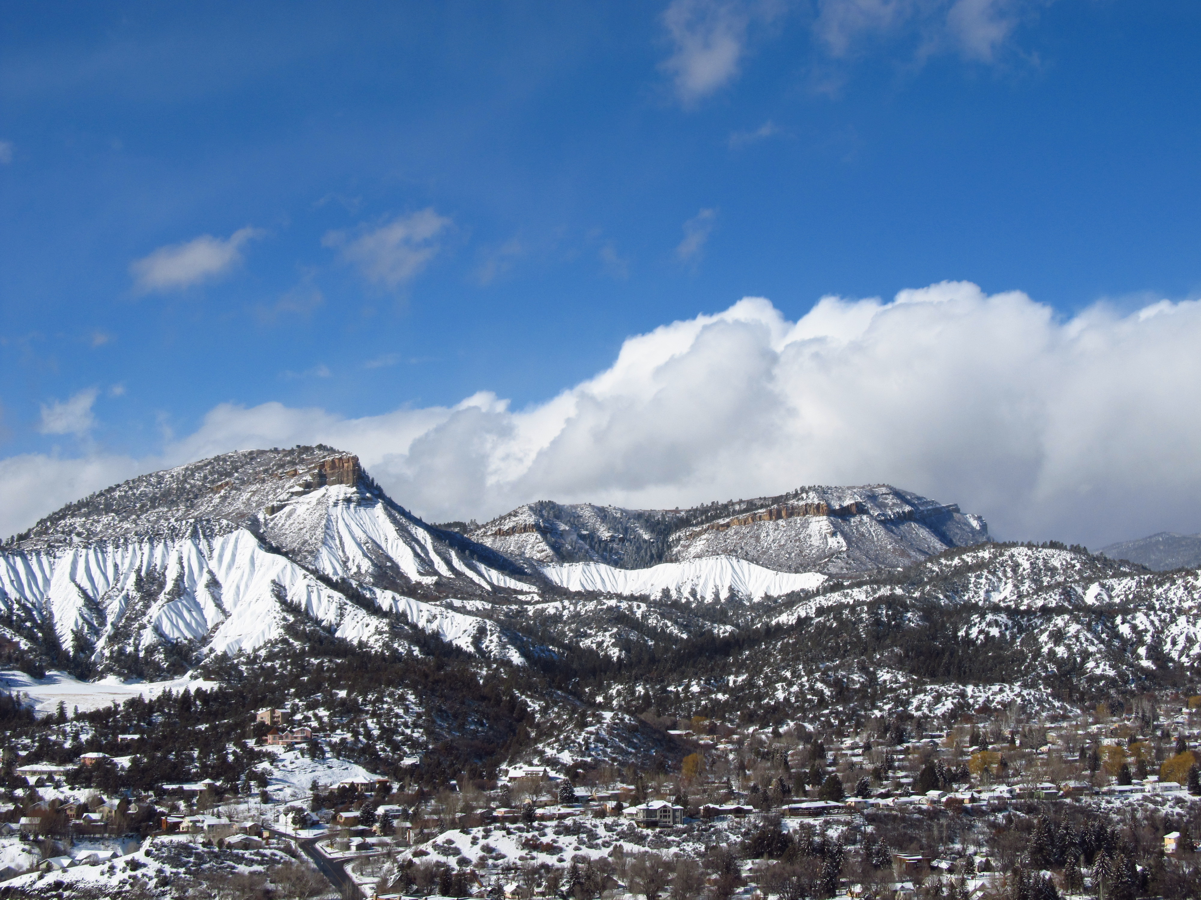 Fresh Snow Fall Blankets Durango, Colorado