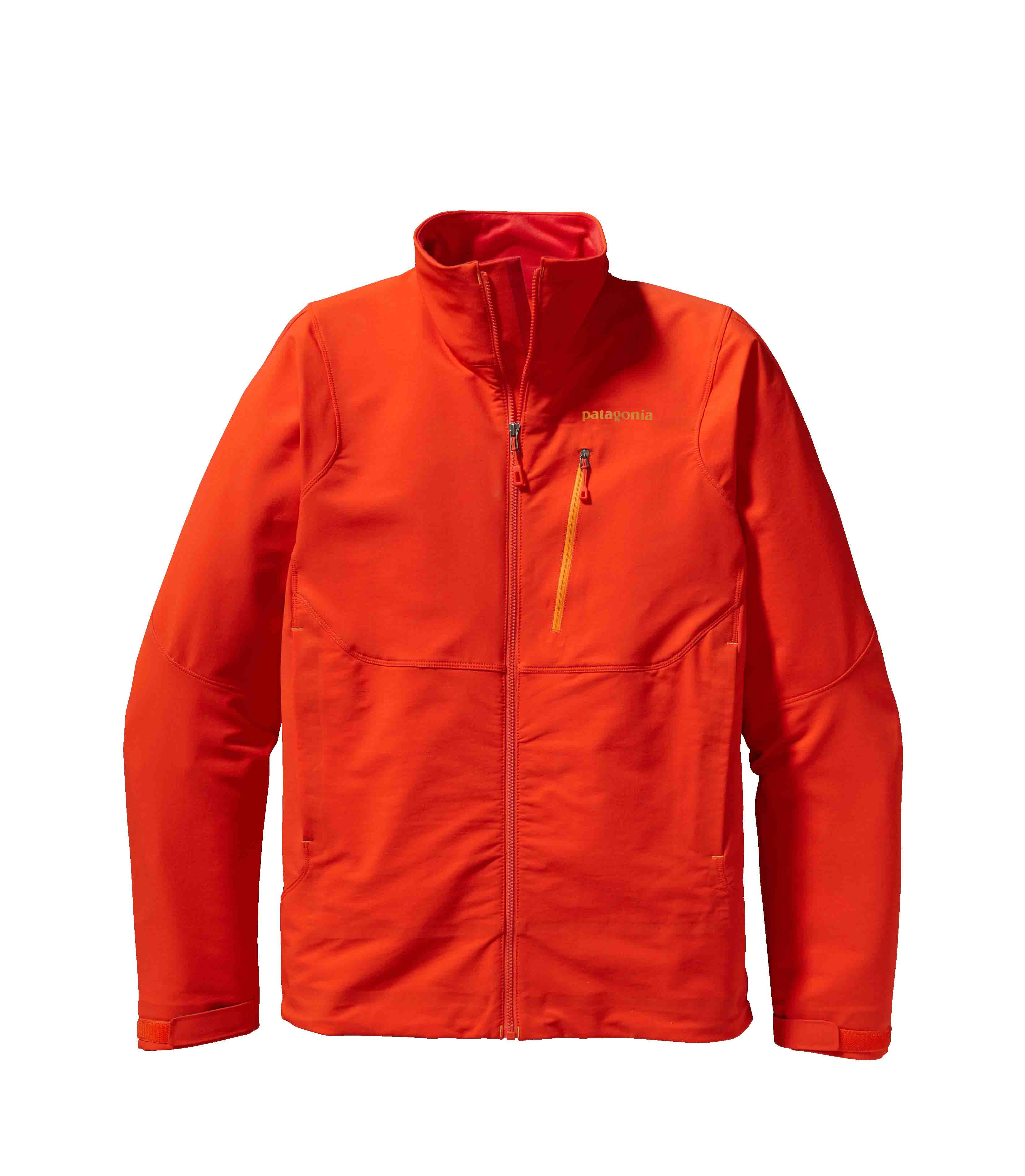 Patagonia men's Alpine Guide Jacket - The Alpine Guide Jacket and Pants are highly durable, breathable soft shells made of a new wind-resistant Polartecr Power Shieldr Stretch Woven fabric to both protect and vent on extended, demanding climbs or ski tours. Polartecr Power Shieldr Stretch Wovens are enhanced with Polartecr Hardfacer technology to dramatically increase abrasion and snag/pick resistance, improve lasting durable water repellency, reduce moisture gain in wet conditions and accelerate dry-times. Polartecr Power Shieldr Stretch Woven fabrics offer a dramatic improvement on the original soft shell concept - single layer woven fabrics that deliver excellent weather protection, high breathability and lasting durability for harsh use.