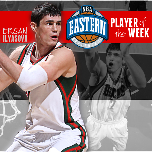 Ersan was named Eastern Conference Player of the Week for March 5-12.