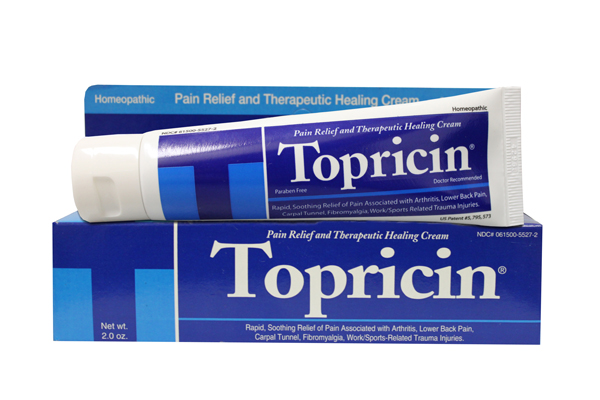 Natural products such as Topical BioMedics' Topricin Pain Relief and Healing Cream are a safe, natural alternative to oral pain medications to help relieve symptoms of pain associated with fibromyalgia.