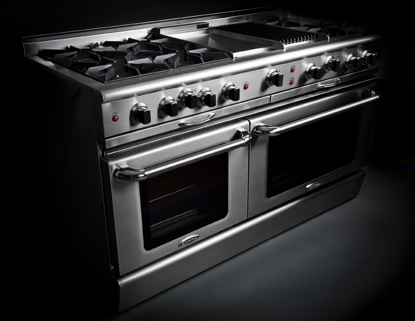 The Culinarian open burner gas range