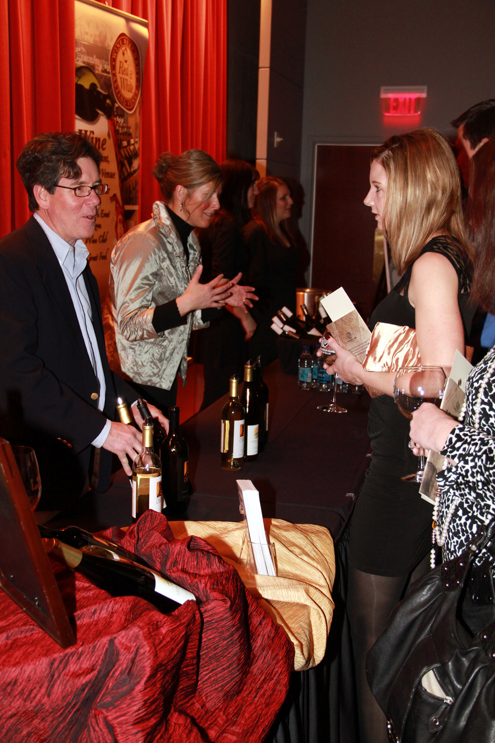 Local winemakers speak with Vintage in the Valley attendees. (2011)