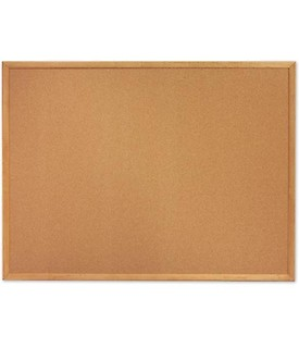 Quartet 303 Cork Bulletin Board - Oak