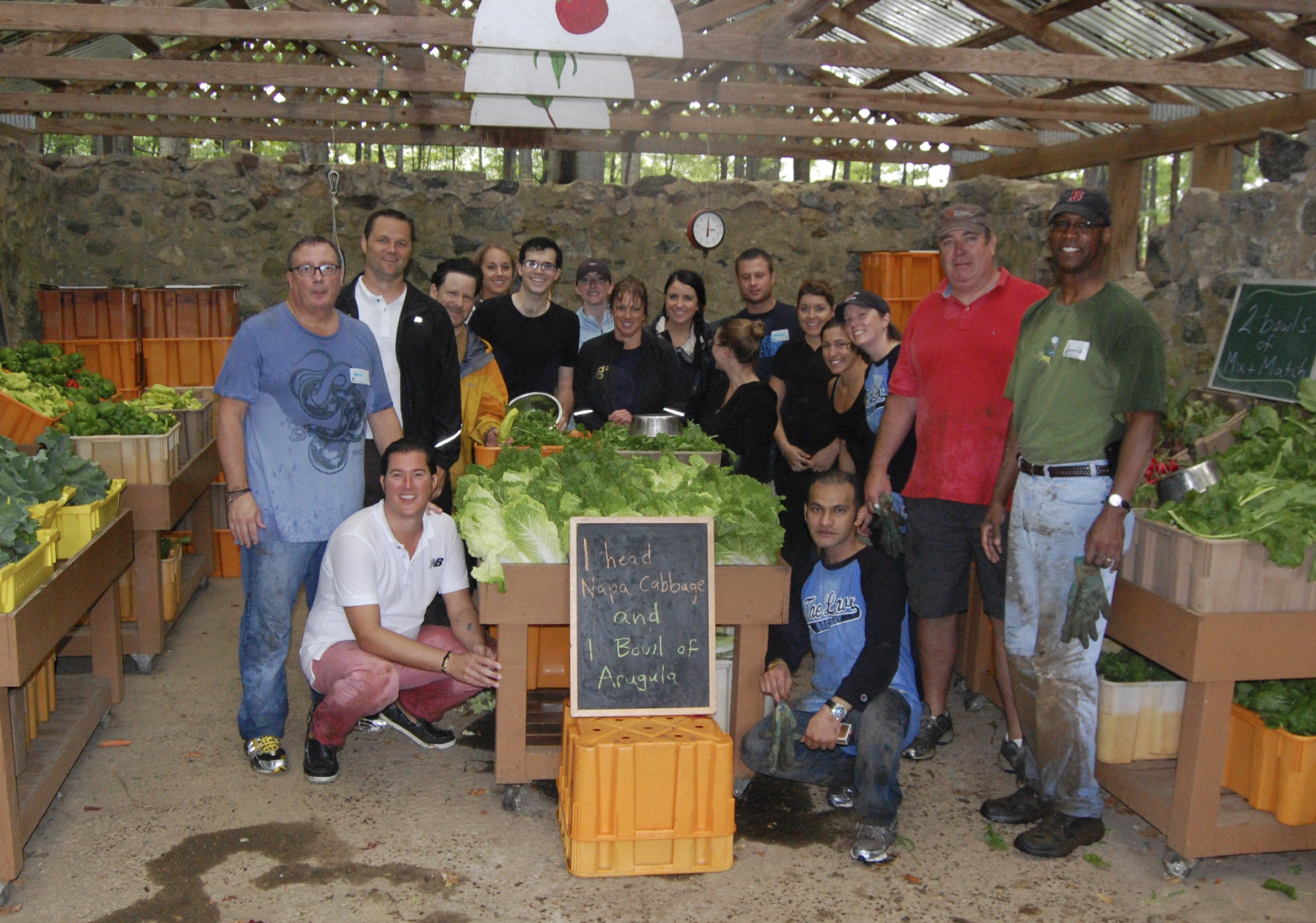 The Lenox Hotel team at The Food Project in Lincoln, MA