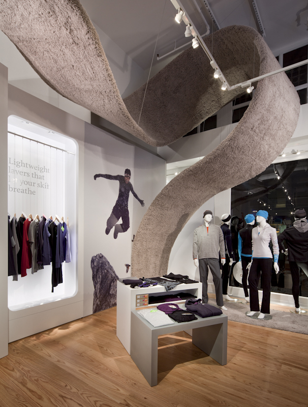 Icebreaker has leased space from Grosvenor Americas for its San Francisco TouchLab store, which - like this one in New York City - will feature the company's exclusive line of merino wool adventure apparel made in New Zealand. (Photo credit: Ty Cole for Icebreaker.)