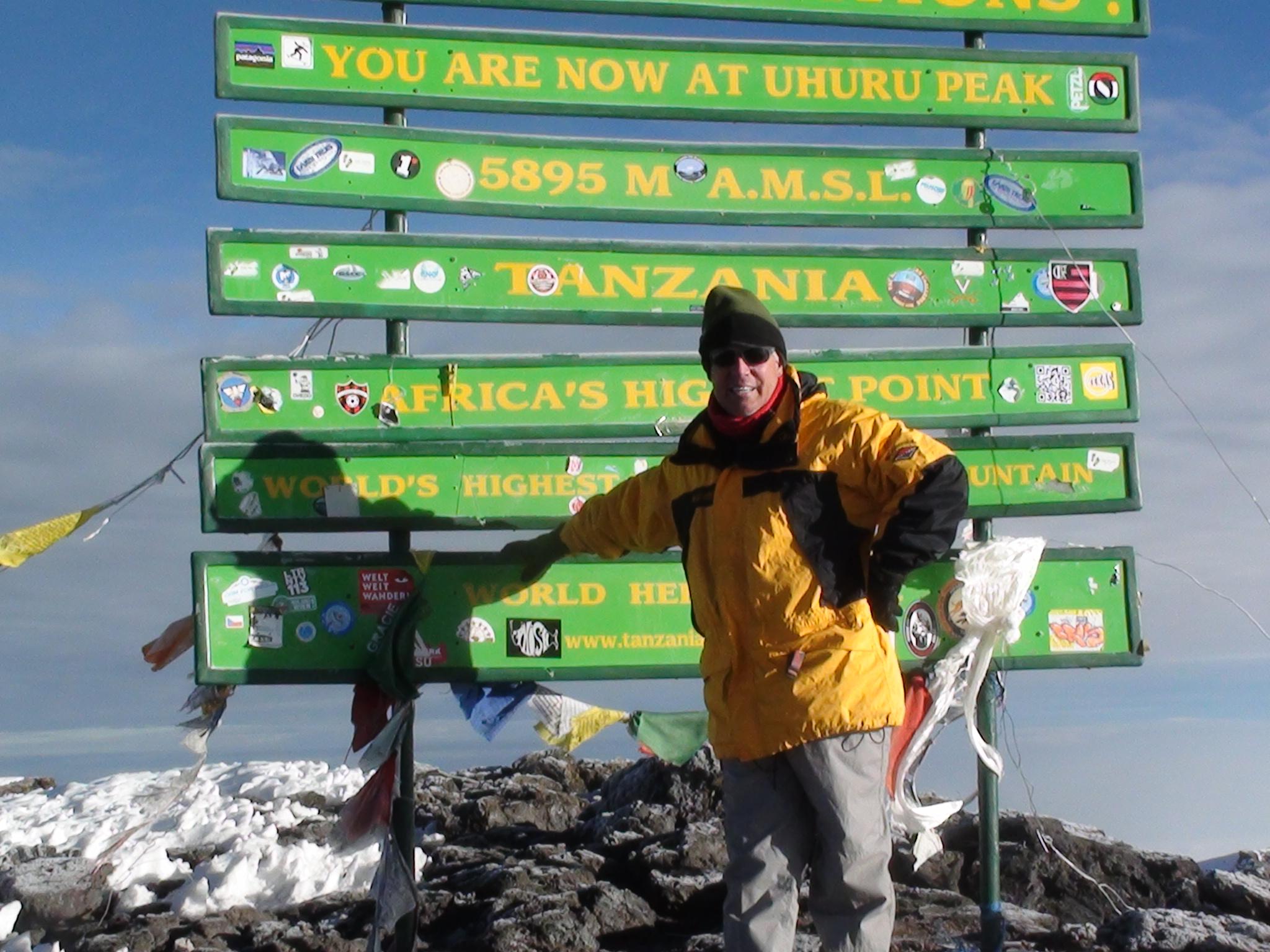 Macon Dunnagan on the Summit of Kilimanjaro