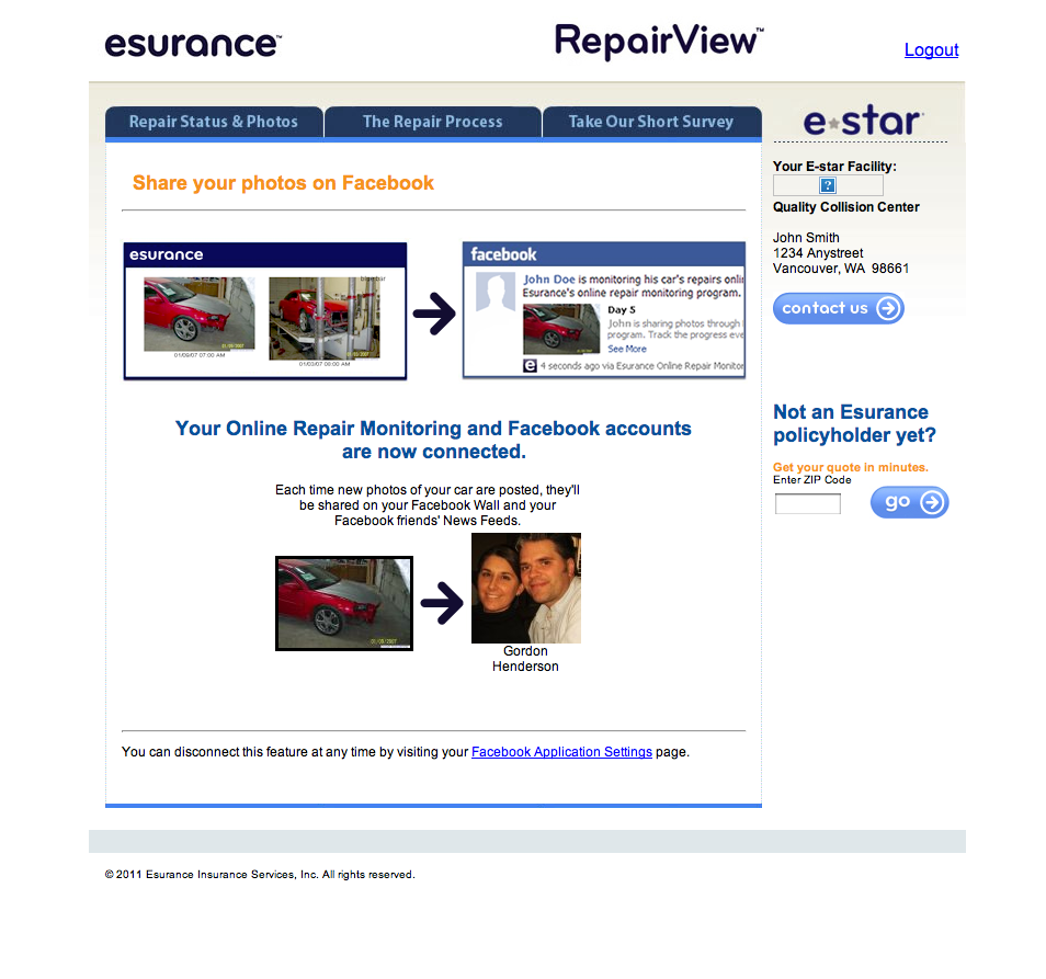 Esurance Auto Quote Esurance Car Repair Monitoring App Integrates With Facebook
