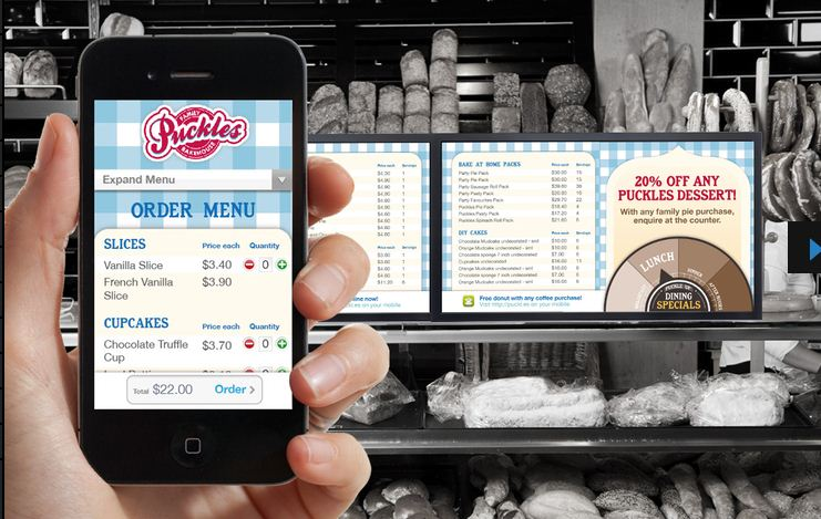 Puckles Bakery approached SCT to reinvent their printed retail signage with an easily managed in-store digital signage solution.