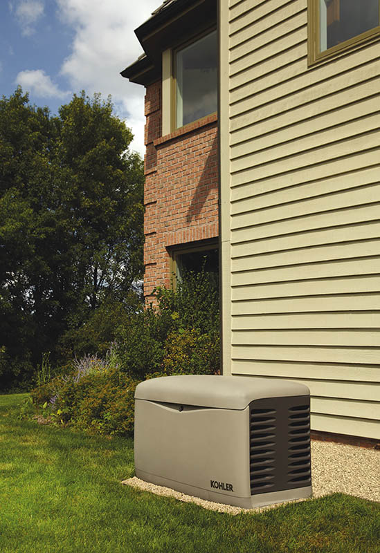 Standby generators are permanently installed outside the home similar to a central air conditioning unit.