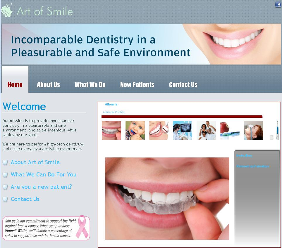Easy WebContent Business Websites: Art of Smile