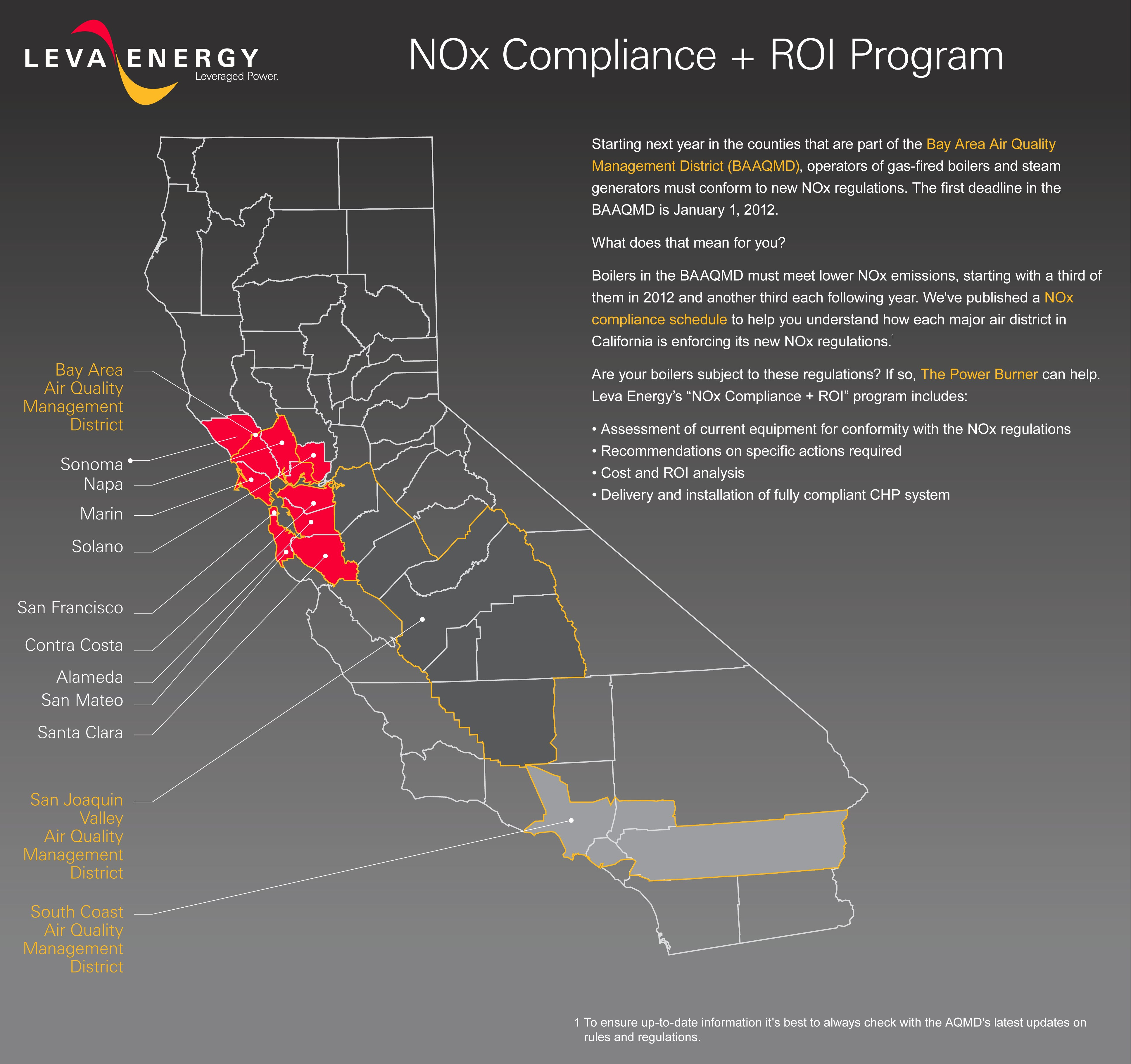 Leva Energy Launches NOx Compliance  ROI Program for Commercial