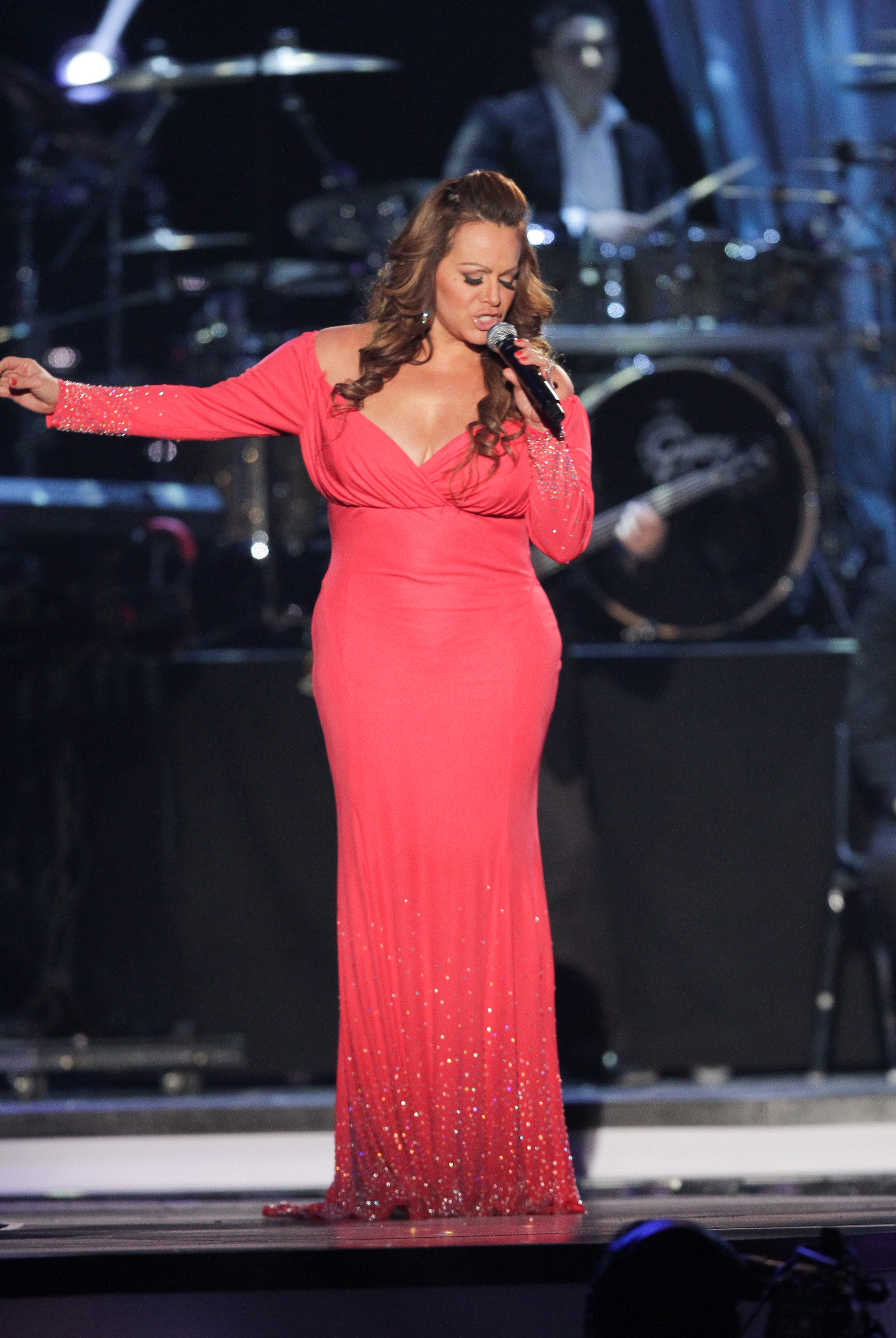 MIAMI, FL - APRIL 26: Jenni Rivera performs with Shure Axient Wireless during Billboard Latin Music Awards 2012 at Bank United Center on April 26, 2012 in Miami, Florida. Photo by John Parra/Getty Images)