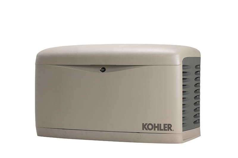 Standby generators, like this one from Kohler, turn on automatically when the power shuts off.  They can power critical and sophisticated appliances and systems in your home, including lights, heating/cooling systems, refrigerators, sump pumps, home security systems and more.