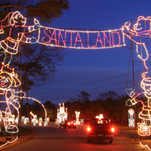 100 Miles of Lights display at Newport News Park